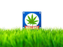 Dutch souvenir with marijuana symbol Royalty Free Stock Photos