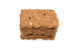 Dutch speculaas biscuit cake Royalty Free Stock Photos