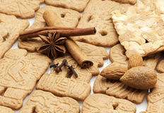 Dutch speculaas biscuits and ingredients Stock Photo
