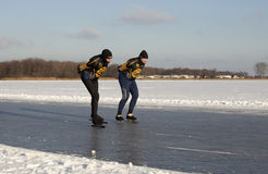 Dutch speed skaters stock photo