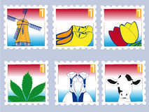 Dutch stamps Stock Photos