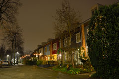 Dutch street at night Stock Images