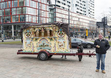 Dutch street organ in Rotterdam Royalty Free Stock Photo