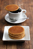 Dutch stroopwafel Royalty Free Stock Image