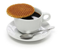 Dutch stroopwafel Stock Photo