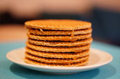 Dutch stroopwafels Royalty Free Stock Photography