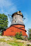 Dutch style ancient windmill Royalty Free Stock Photos