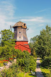 Dutch style ancient windmill Royalty Free Stock Image