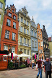 Dutch-style buildings in Gdansk Royalty Free Stock Photos