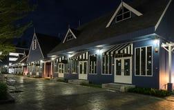 Dutch style house illuminated at night Stock Photography
