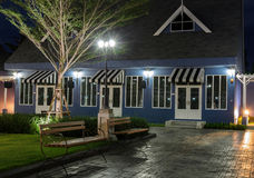 Dutch style house at night Royalty Free Stock Photos