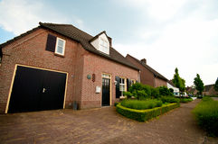 Dutch suburban house Royalty Free Stock Photography