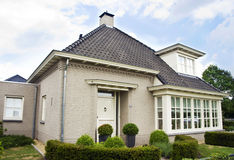 Dutch suburban house Royalty Free Stock Images
