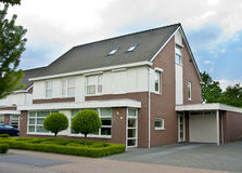 Dutch suburban house Royalty Free Stock Image