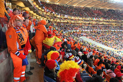 Dutch supporters watching the final match Royalty Free Stock Photography