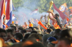 Dutch supporters watching the game. Stock Image