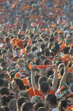 Dutch supporters watching the game. Royalty Free Stock Photo