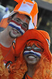Dutch supporters watching the game. Royalty Free Stock Image