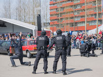 Dutch SWAT team in action Stock Images
