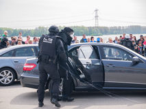 Dutch SWAT team in action Royalty Free Stock Image
