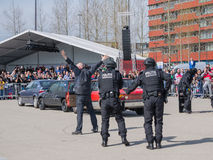 Dutch SWAT team in action Royalty Free Stock Photo