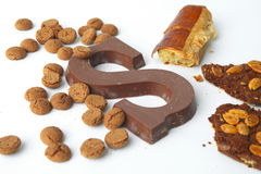 Dutch sweets for Saint Nicholas stock photo