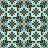 Dutch tile in medieval style Stock Photos