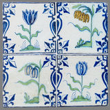 Dutch tile from the 16th to the 18th century Royalty Free Stock Images