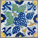 Dutch tile from the 16th to the 18th century. Old Dutch tile from the 16th to the 18th century Stock Image