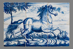 Dutch tile from the 16th to the 18th century Royalty Free Stock Photography