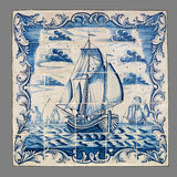 Dutch tile from the 16th to the 18th century. Old Dutch tile from the 16th to the 18th century stock photography