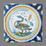 Dutch tile from the 16th to the 18th century. Old Dutch tile from the 16th to the 18th century Royalty Free Stock Image