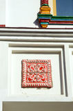 The Dutch tile On the white-stone building Stock Photos