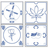 Dutch tiles. Set of old fashioned dutch tiles Stock Images