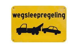 Dutch towing enforced sign Royalty Free Stock Image
