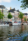 Dutch town with an inner canal Royalty Free Stock Photography