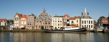 Dutch Town of Maassluis Stock Image