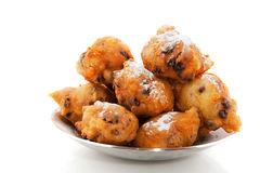 Dutch traditional food. Oliebollen for new years eve stock photo