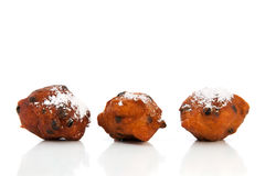 Dutch traditional oliebollen Royalty Free Stock Images