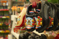 Dutch traditional wooden shoes Royalty Free Stock Images
