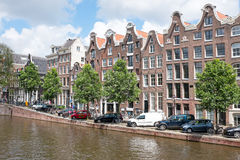 Dutch traditonal houses at the Prinsengracht in Amsterdam the Ne Royalty Free Stock Photo