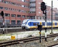 Dutch NS train in amersfoort. royalty free stock photo