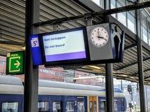 Train station, valeilijn amersfoort. royalty free stock images