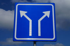 Dutch two Way Traffic Sign - arrows Stock Images