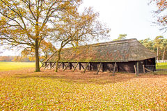 Dutch typical sheep fold in the countryside from Netherlands Royalty Free Stock Image