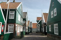 Dutch village. Alley in a small Dutch village royalty free stock photography