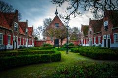 Dutch Village. Historical area in Naaldwijk the Netherlands stock photo