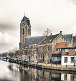 Dutch village Oudewater Royalty Free Stock Images