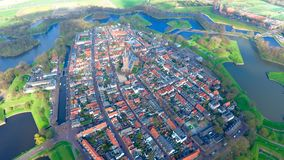 Dutch Village From The Sky Royalty Free Stock Photography