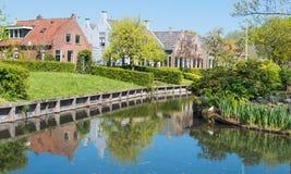 Dutch village in springtime Stock Photos